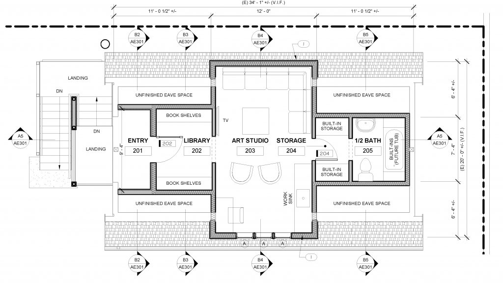 H street accessory dwelling process studio pllc for Accessory dwelling unit floor plans